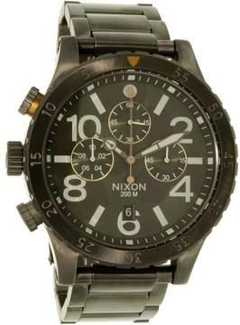Nixon Men's 48-20 A4862069 Gunmetal Stainless-Steel Quartz Dress Watch