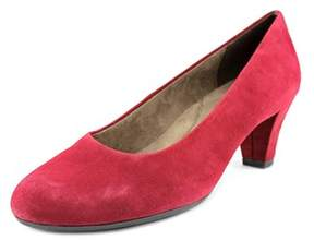 Aerosoles Shore Thing Women Round Toe Suede Burgundy Heels.