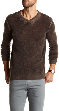 Autumn Cashmere Inked Elbow Patch Cashmere Sweater