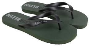 Calvin Klein Amsterdam Olive Black Mens Flip Flops Sandals
