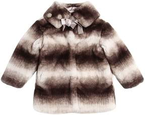 MonnaLisa Faux Fur Coat W/ Matching Collar