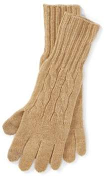 Ralph Lauren Cable Wool-Cashmere Gloves Camel Melange One Size