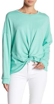 Lush French Terry Knot Front Sweater