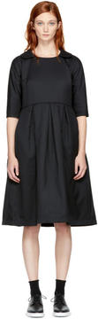 Comme des Garcons Black Padded Collared Dress