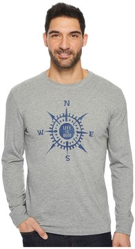 Life is Good Compass Painted Long Sleeve Crusher Tee Men's Long Sleeve Pullover
