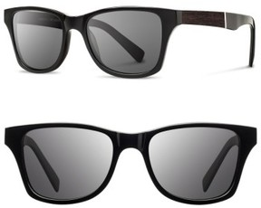 Shwood Men's 'Canby' 53Mm Polarized Wood Sunglasses - Black/ Ebony/ Grey