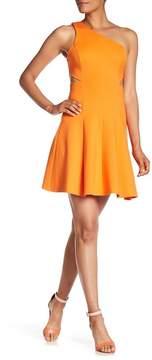 Amanda Uprichard One Shoulder Cut-Out Dress
