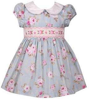 Iris & Ivy Baby Girl's Smocking Printed Cotton Poplin Dress