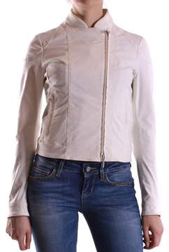 Brema Women's White Cotton Outerwear Jacket.
