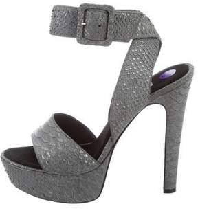 Barbara Bui Fish Skin Platform Sandals