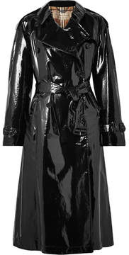 Burberry The Eastheath Coated-cotton Trench Coat - Black