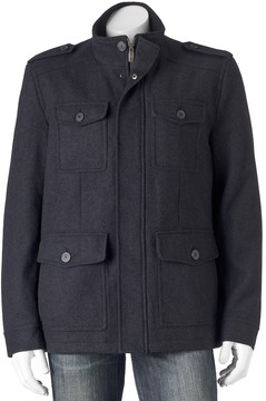 Dockers Men's Wool-Blend 4-Pocket Military Jacket