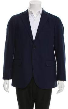 Luigi Bianchi Mantova Virgin Wool Two-Button Blazer
