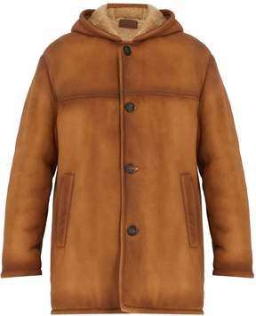Prada Hooded shearling coat