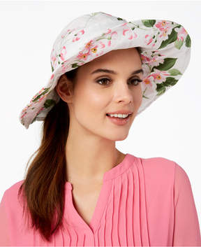 INC International Concepts I.n.c. Floral-Print Floppy Hat, Created for Macy's