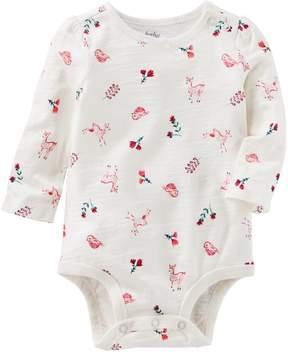 Osh Kosh Oshkosh Bgosh Baby Girl Nature Print Bodysuit