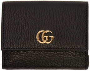 Gucci Black Medium GG Marmont Trifold Wallet