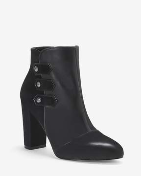 White House Black Market Leather Military Ankle Booties
