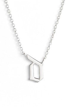 Argentovivo Women's Gothic Initial Pendant Necklace