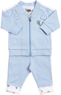 Karl Lagerfeld Cotton Jersey Sweatshirt & Sweatpants