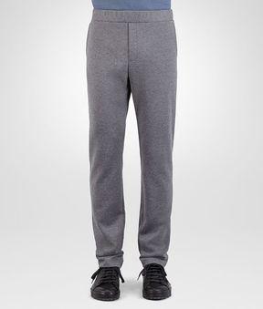 Bottega Veneta Pants In Light Grey Melange Cotton Wool Jersey