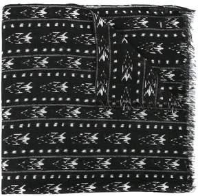 Saint Laurent Ikat patterned stole