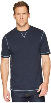 True Grit Heritage Slub Classic Fit Pigment Dyed Short Sleeve Knit Crew with Contrast Coverstitch Men's T Shirt
