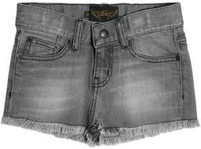 Finger In The Nose Frayed Cotton Denim Shorts