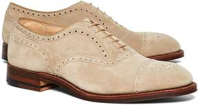 Brooks Brothers Suede Perforated Captoes