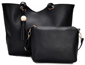 Shein Tassel Detail PU Combination Bag 2pcs