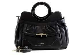GUESS Leya Satchel Black Handbag ST# VG343223