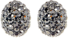 Ariella Collection Oval Pave Earrings