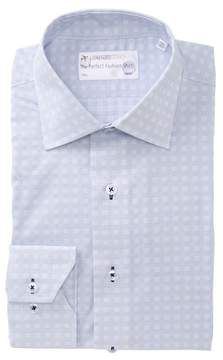 Lorenzo Uomo Multi Check Trim Fit Dress Shirt