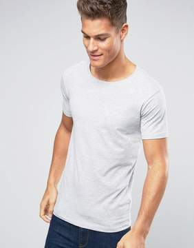 Lindbergh T-Shirt In Gray Marl Stretch Cotton