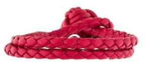 Bottega Veneta Intrecciato Nappa Wrap Bracelet