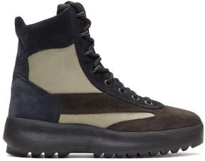 Yeezy Black and Beige Military Boots