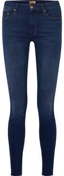 Mother Looker Mid-rise Skinny Jeans - Dark denim