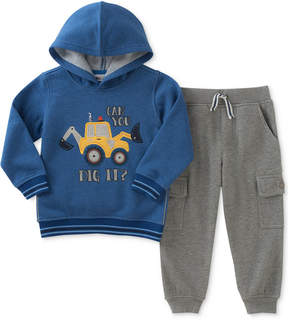 Kids Headquarters 2-Pc. Dig It Fleece Hoodie & Jogger Pants Set, Baby Boys (0-24 months)