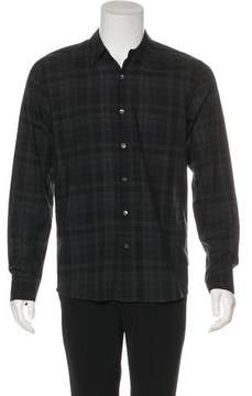 James Perse Plaid Button-Up Shirt
