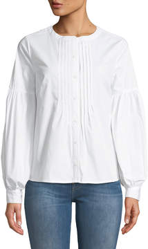 Cynthia Steffe Cece By Bubble-Sleeve Button-Front Blouse