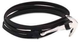 Miansai Anchor Sterling Silver & Leather Bracelet