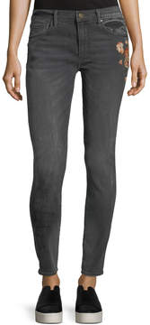 Driftwood Cropped Embroidered Skinny Jeans