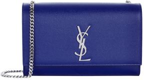Saint Laurent Medium Kate Monogram Shoulder Bag - BLUE - STYLE