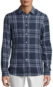 Michael Kors Plaid Long Sleeve Button-Down Shirt