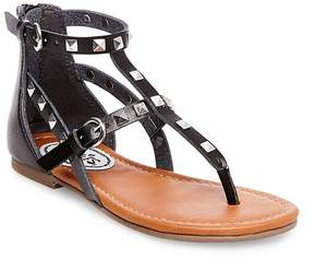 Stevies Girls' #STUDZZ Pyramid Stud Gladiator Sandals