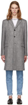 Acne Studios Grey Check Mawin Prince Coat