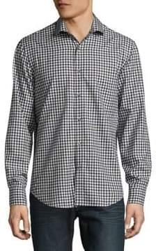 Black & Brown Black Brown Check Button-Down Cotton Shirt