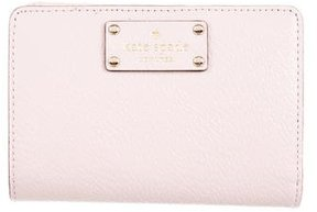 Kate Spade Leather Compact Wallet - PINK - STYLE
