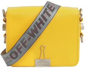 Binder Clip Saffiano Leather Bag
