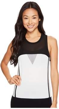Blanc Noir Mesh Sweater Tank Women's Sleeveless